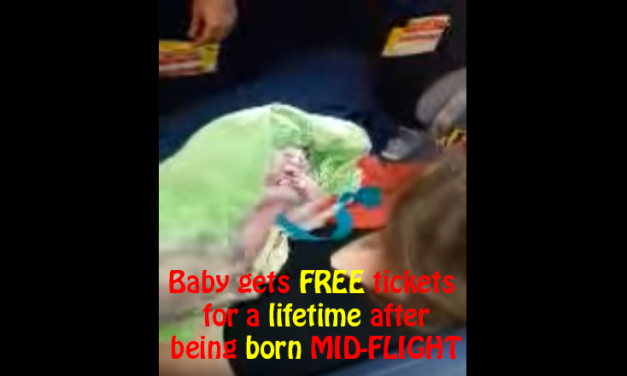 Baby gets FREE tickets for a lifetime after being born MID-FLIGHT